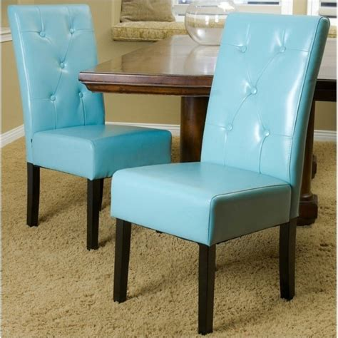 teal dining chairs trent home renoir dining chair in teal blue set of 2