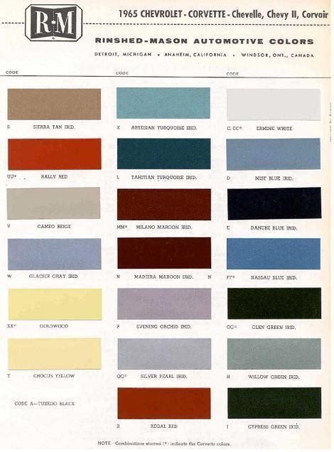 gm color codes gm paint codes