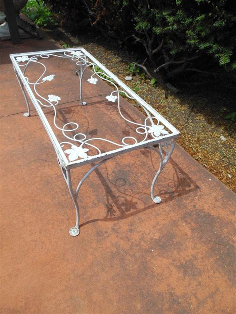 Rod Iron Patio Table Coffee Table Salterini Vintage Sold Vintage Wrought Iron Patio Furniture Pinterest Tables
