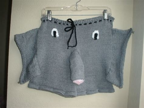 mens knitted elephant free knitting patterns for mens simple