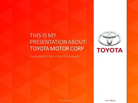 how to create powerpoint template toyota powerpoint template presentationgo