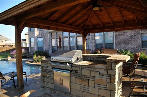 gazebo outdoor kitchen pools