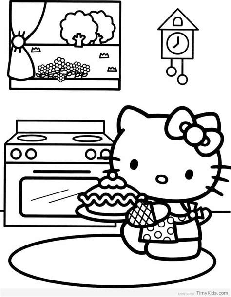 happy birthday hello kitty coloring page hello kitty