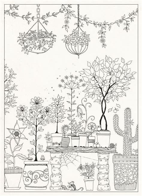 secret garden colouring book pages free coloring pages of basford
