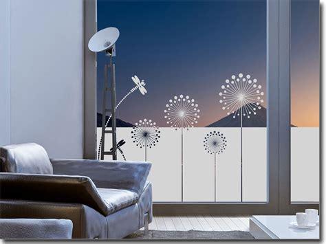 Fenster Sichtschutz Kleben by Sichtschutzfolie Moderne Pusteblume Fenster Folie