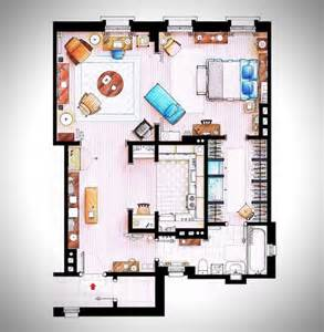 rendered floor plans hand rendered floor plans of your favorite tv characters