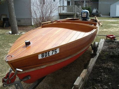 mmm motor boating kijiji lakefield cedar strip boat wooden boats not