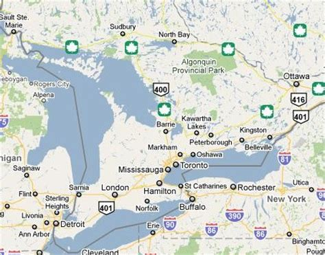 map of southern canada and northern us aguide2ontario ontario travel guide places to visit