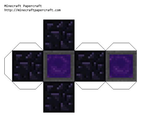paper crafts tutorial minecraft portals