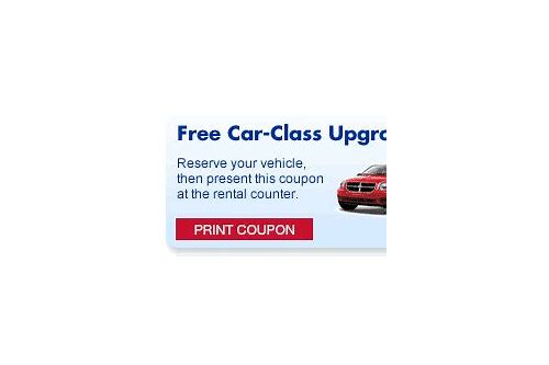 enterprise rental car free upgrade coupon