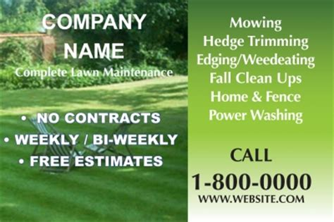 free printable lawncare card templates cheapdoorhangers printed door hanger advertisements