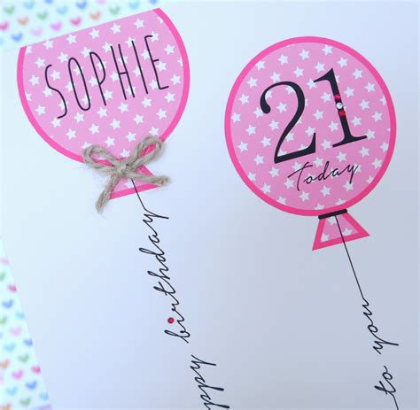 Handmade Personalised Birthday Cards - beautiful personalised handmade birthday card any age