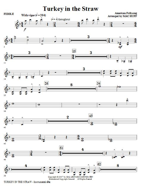 free printable sheet music turkey in the straw turkey in the straw fiddle sheet music direct