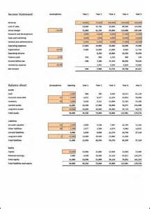 projected financial statements template projected financial statements images