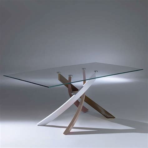 tavolo artistico bontempi artistico glass tavolo di design di bontempi casa fisso