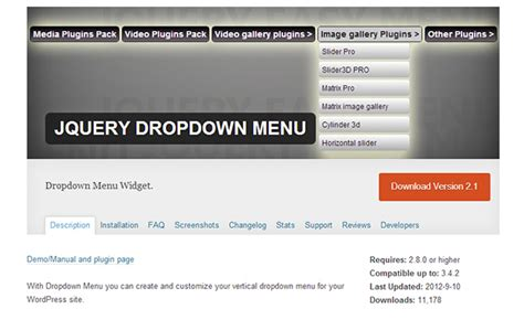 jquery menu templates 15 top dropdown menu plugins wp template