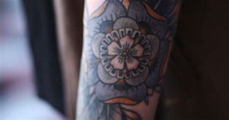 geometric tattoo portland geometric flower cover up by alice carrier at anatomy