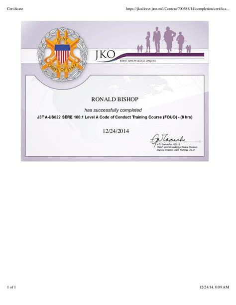sere 100 certificate template bishop sere 100