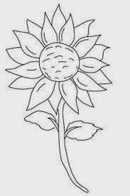 Gambar Mewarnai Bunga Matahari ~ Gambar Mewarnai Lucu