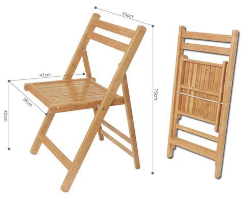sobuy chaise pliante en bois bambou naturel de cuisine