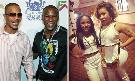 ti swings at mayweather t i floyd mayweather jr got into fight in las vegas