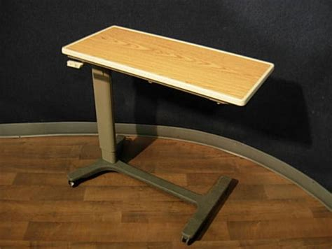 used hospital bed table for sale used hill rom 630 f overbed table for sale dotmed