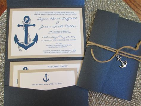 Boat Themed Wedding Invitations by Nautical Theme Destination Wedding Invitation Anchor Navy