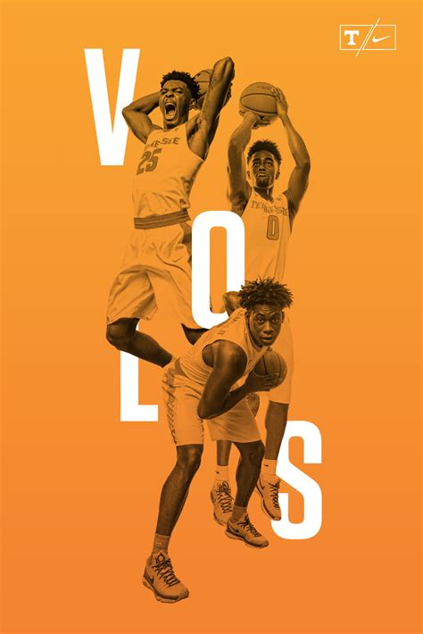 design poster basketball tennessee men s basketball poster design on behance