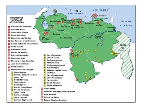 Imagenes Monumentos Naturales De Venezuela | mapa de venezuela mapadevenezuela com