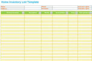 House Contents List Template Pin Home Contents Inventory List Template On Pinterest