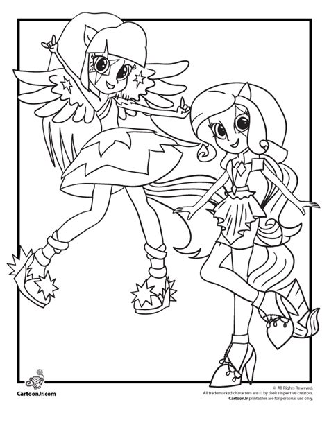 Coloring My Little Pony Equestria Girls Rainbow Rocks My Pony Equestria Coloring