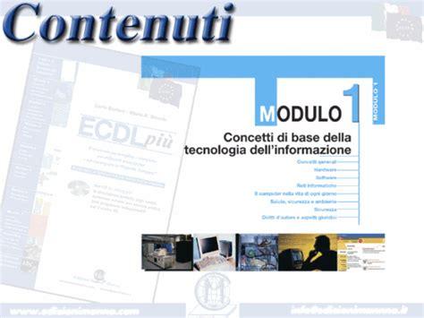 ecdl test modulo 1 corsi ecdl sito ufficiale ecdl il corso ecdl