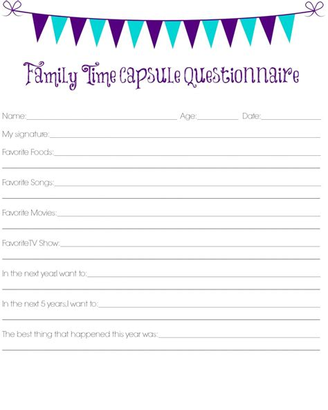 child friendly questionnaire template family friendly new year s celebration one artsy