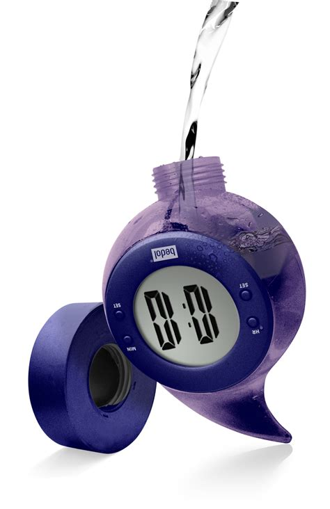 bedol battery  water powered clock adds alarm function