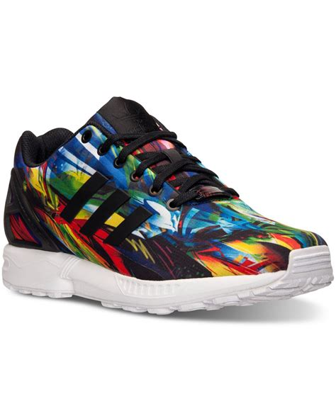 adidas originals s zx flux print running sneakers from finish line for lyst