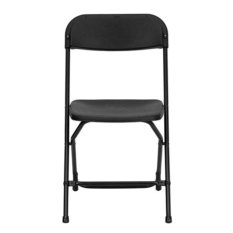 Black Plastic Folding Chairs by Plastic Folding Chair In Black Holds 800 Lbs R
