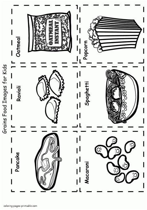 Grain Food Coloring Pages grain food coloring pages