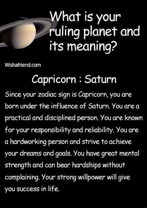 find out your ruling planet and its meaning capricorn