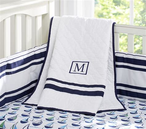 Preppy Boats Nursery Bedding Set Pottery Barn Kids Preppy Crib Bedding