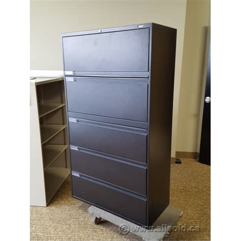 Global 4 Drawer Lateral File Cabinet Global Black 5 Drawer Lateral File Cabinet Locking Allsold Ca Buy Sell Used Office