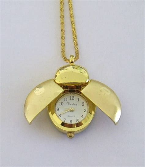 necklace ladybug pendant watches gold chain cheapatleast
