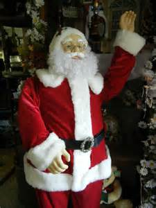 animated life size deluxe 5 foot santa claus sings