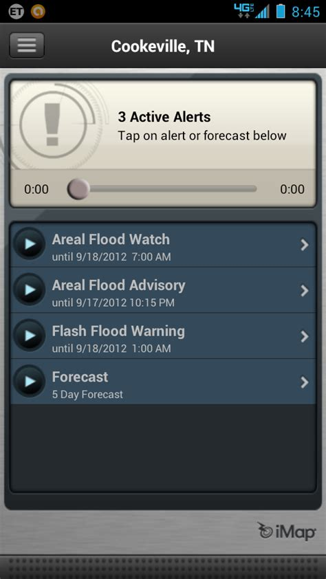 noaa weather app for android the high risk zone imap weather radio app for the android phone review