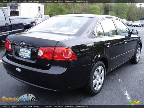 Kia 2008 Black 2008 Kia Optima Lx Black Beige Photo 4