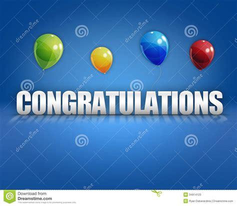 congratulations poster template congratulations balloons 3d background stock illustration