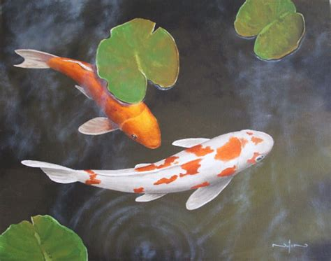 acrylic paint artist pad koi fish add ambiance to your water feature fayetteville