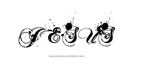 jesus name tattoo designs jesus name designs