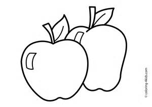 apple coloring sheet apples to color clipart best