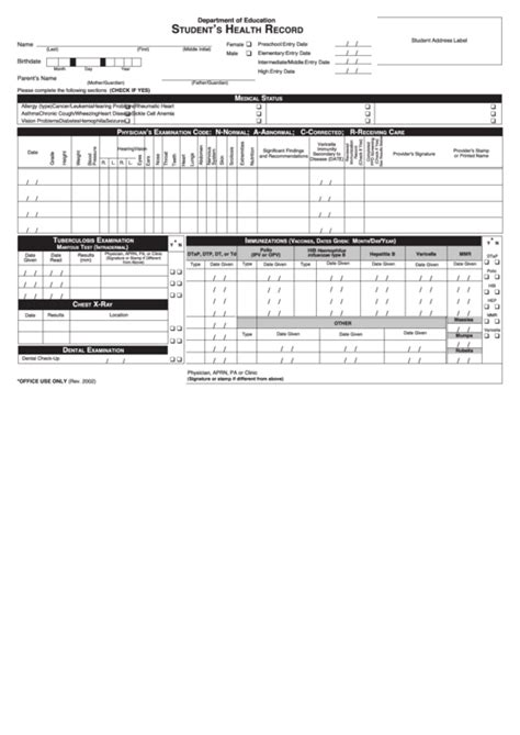 health record template top 7 personal health record templates free to in