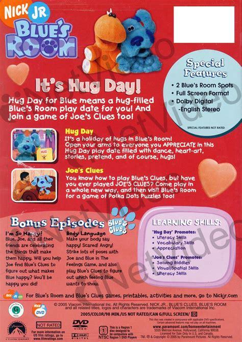 blues room dvd blue s room it s hug day on dvd